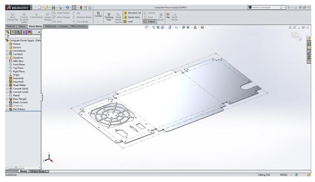 Bản vẽ mở rộng cấu trúc bộ phận kim loại tấm